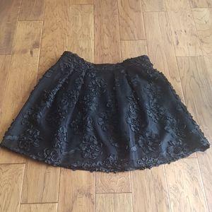Worthington Petite Floral Mesh Style Skirt Pockets